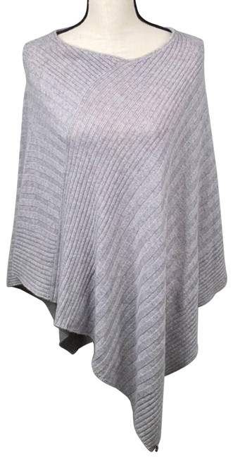 Item - Gray Cashmere Ribbed O/S Poncho/Cape Size OS (one size)