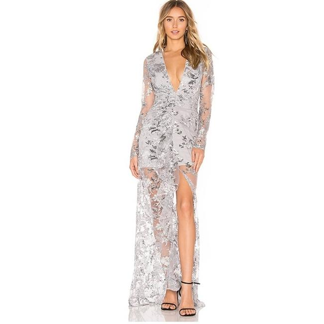 Item - Silver New X By Revolve Ice Melts Gown Casual Maxi Dress Size 8 (M)