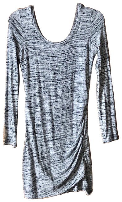 Item - Gray Ruched Short Casual Maxi Dress Size 8 (M)