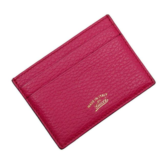 Item - Purple Card Case Regular Insert Leather Ladies Wallet