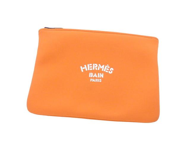 Item - Pouch Bain 20% Elastane Multi Case Orange Polyamide Clutch