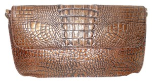 Preston & York Croc Leather Os brown Clutch