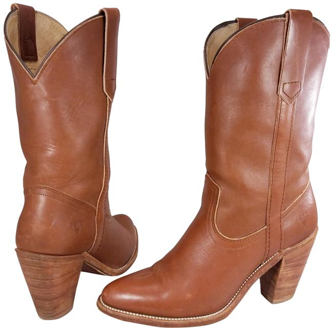 Item - Tan Woman Mid Calf 7875 Leather Western Cowboy Boots/Booties Size US 8.5 Narrow (Aa, N)