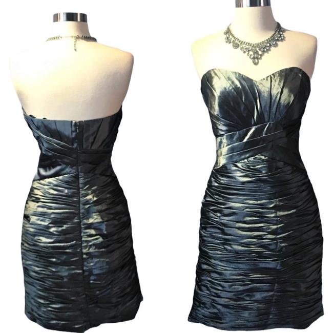 Item - Silver Pewter Ruched Strapless Bolero Cocktail Dress Size 6 (S)