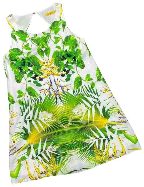 Item - Green XS Trina Tropical Cut Out Short Casual Dress Size 0 (XS)