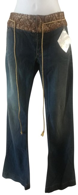 Item - Blue Distressed With Sequins 27 Relaxed Fit Jeans Size 4 (S, 27)