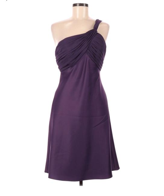 Item - Purple By Watters and Watters Satin/Chiffon Halter Short Cocktail Dress Size 8 (M)