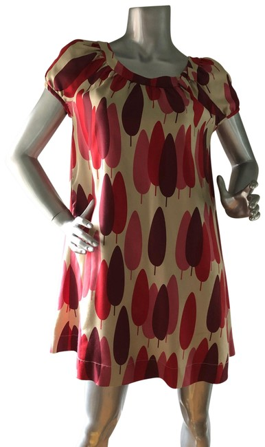 Item - Red Cyprus Trees Short Casual Maxi Dress Size 2 (XS)