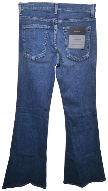 Item - Blue Dark Rinse Chloe Mid-rise 70s Super with Sculpt In Devotion Flare Leg Jeans Size 28 (4, S)