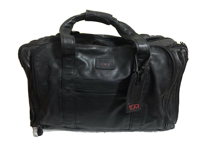 Item - Black Leather Weekend/Travel Bag