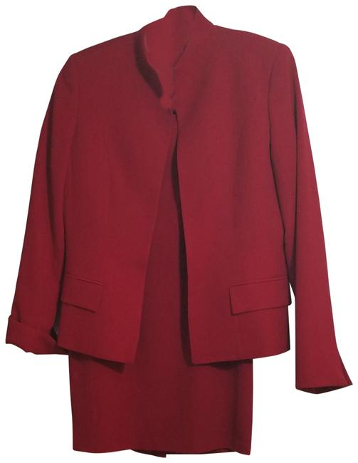 Item - Red Women's 2 Piece Separates Worsted Wool Skirt Suit Size 4 (S)