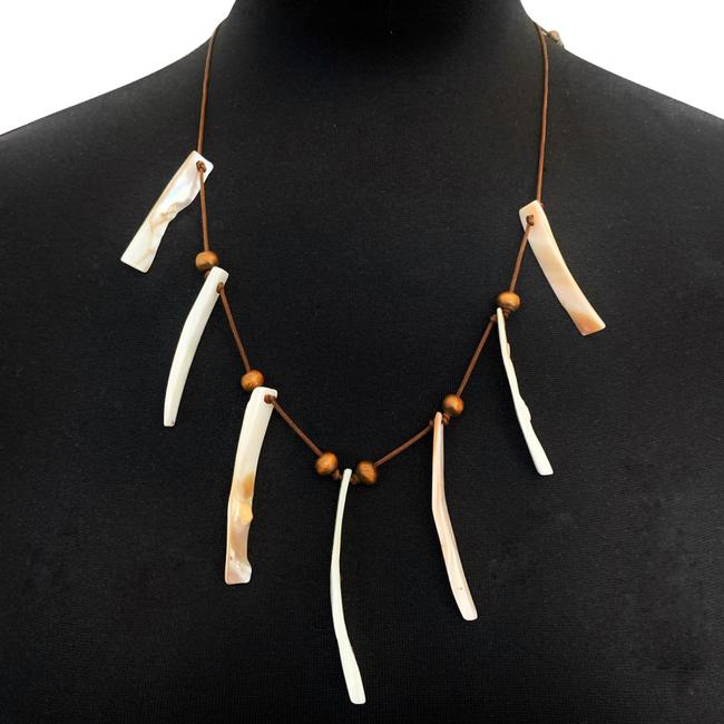 Item - Brown Shell Wood Beads Boho Necklace