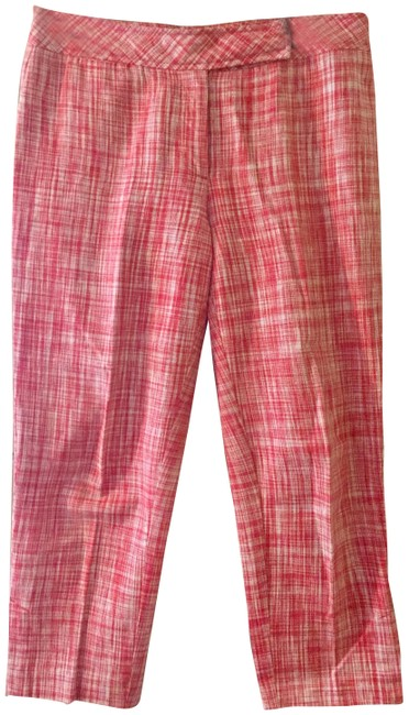 Item - Red White Linen-blend Ankle-length Pants Size 10 (M, 31)