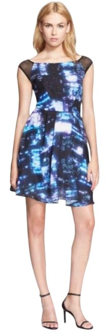 Item - Blue Bella Cityscape Short Night Out Dress Size 8 (M)