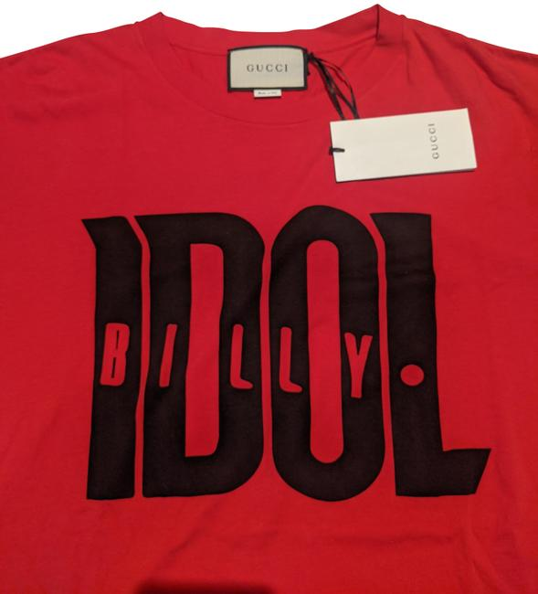 Item - Red T-shirt Oversized with Billy Idol Print M 548335 Tee Shirt Size 8 (M)