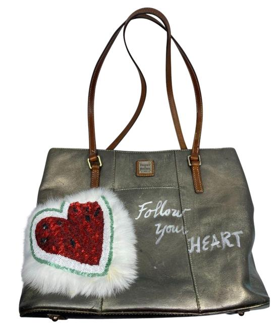Item - Graffiti Tote W Customized W/ Silver Shoulder Bag