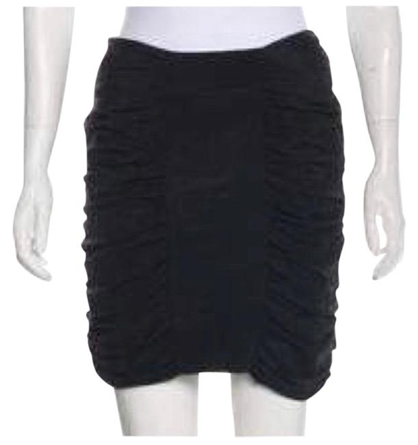 Item - Navy Black Leifsdottir Ruched Women's Silk Mini Sexy Skirt Size 4 (S, 27)