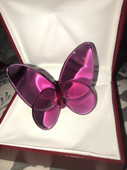 """Baccarat Peony Pink """"lucky"""" Butterfly Other Baccarat Peony Pink """"lucky"""" Butterfly Other Image 4"""