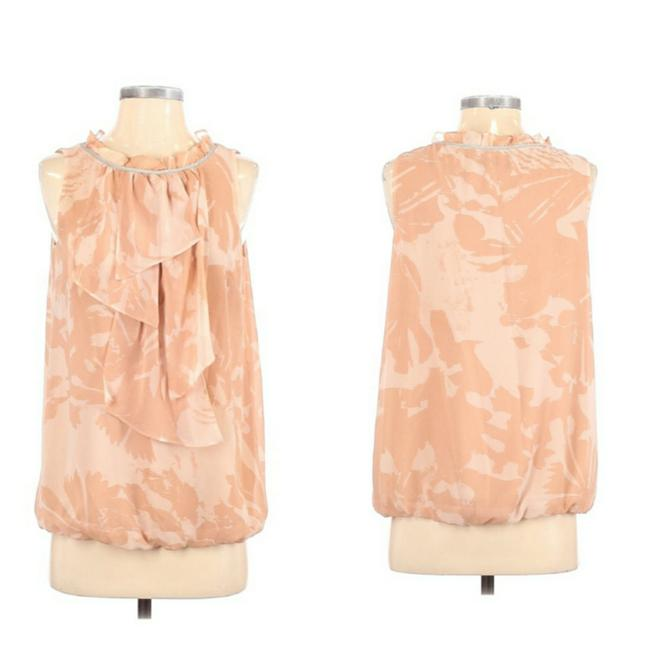 Item - Pink and Tan Blouse Size 4 (S)