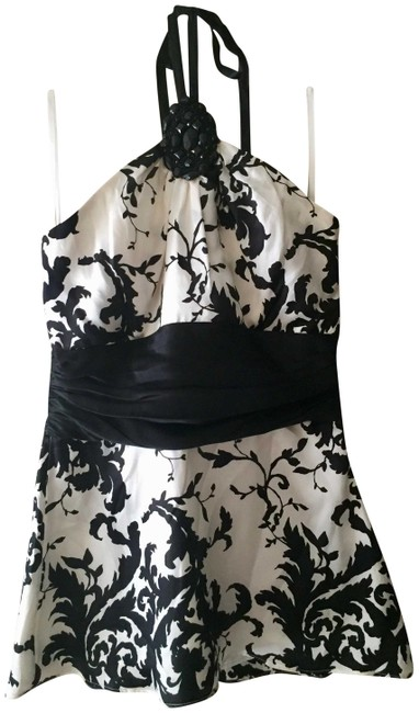 Item - and Silk Damask Embellished Halter Top Size 4 (S)