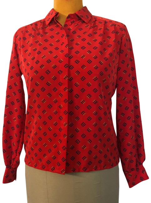 Item - Red Country Sophisticates Blouse Size 14 (L)