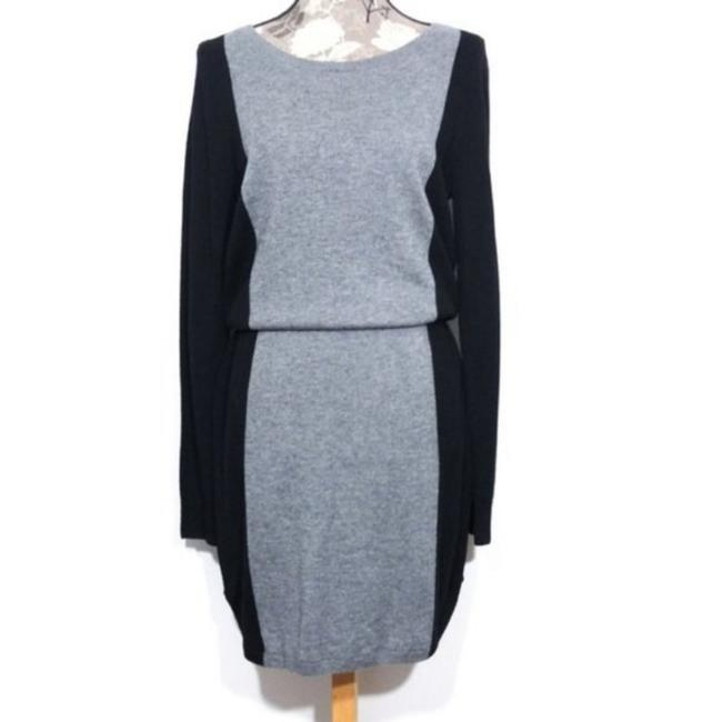 Item - Black Gray Sweater Wool Color Mid-length Work/Office Dress Size 10 (M)