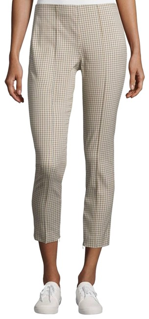 Item - Cream Alettah Ainsley Check Cropped Pants Size 8 (M, 29, 30)