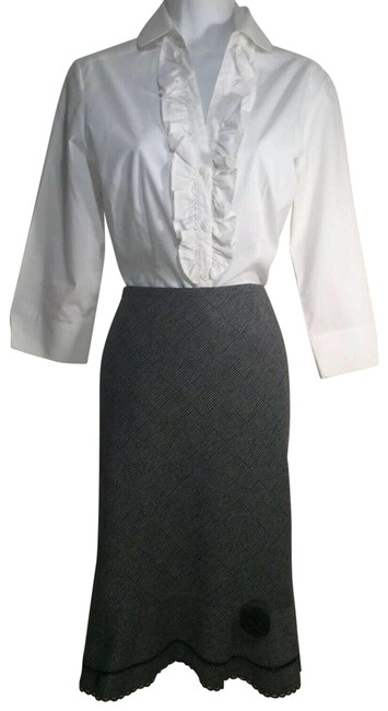 Item - Black Gray Pencil Skirt Size 14 (L, 34)