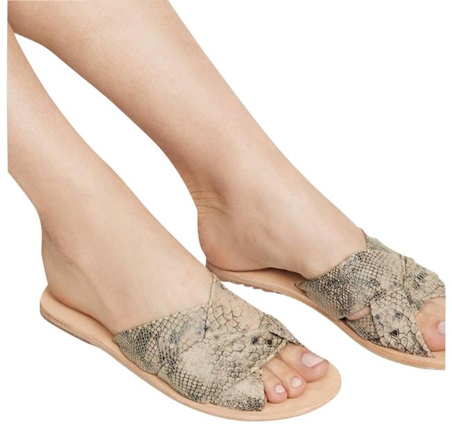 Item - Cream Rio Vista Slide Beige Snake Sandals Size EU 37 (Approx. US 7) Regular (M, B)