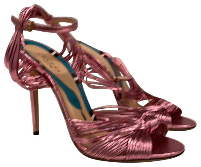 Item - Pink Women's Allie Strappy Knotted Leather Sandals Size EU 38 (Approx. US 8) Regular (M, B)