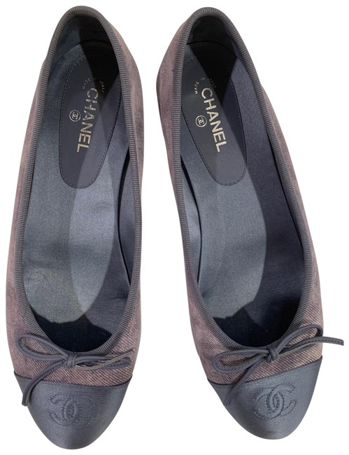 Item - Blue Satin Goatskin Denim Flats Size EU 38.5 (Approx. US 8.5) Regular (M, B)