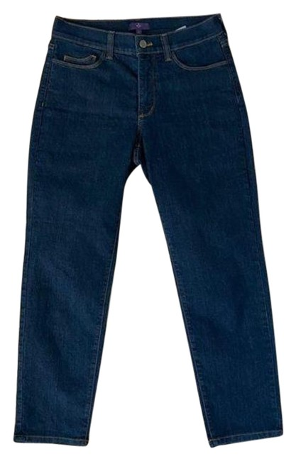 Item - Blue Gold Dark Rinse Wash Cropped Skinny Jeans Size 29 (6, M)