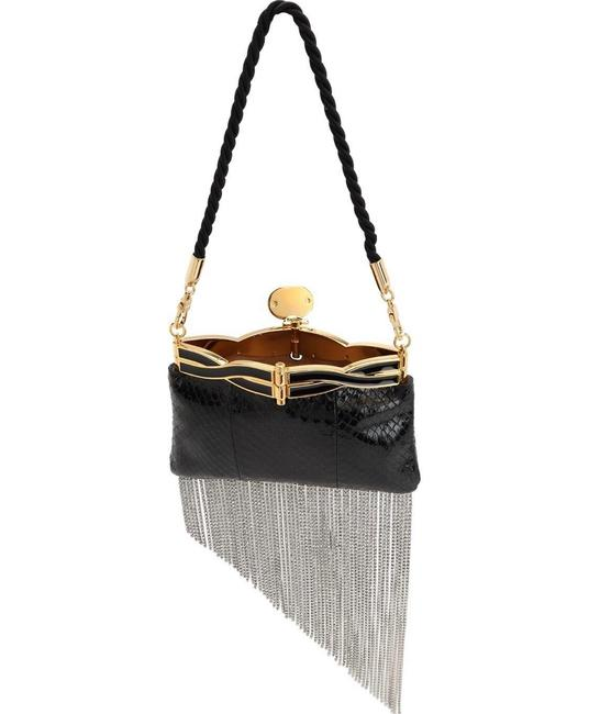 Item - Broadway Crystals @authenticfab Python Skin Leather Clutch