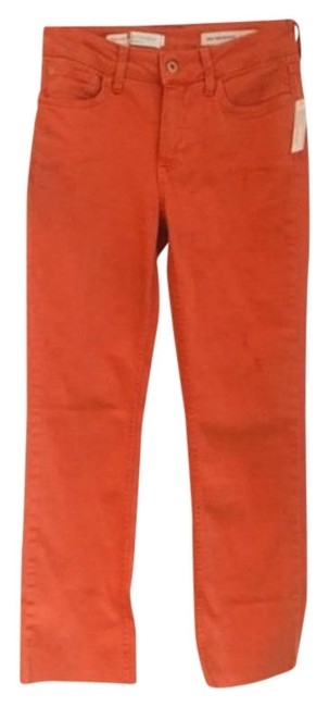 Pilcro and The Letterpress Orange Anthropologie High Rise Boot Cut Capri/Cropped Jeans Size 0 (XS, 25) Pilcro and The Letterpress Orange Anthropologie High Rise Boot Cut Capri/Cropped Jeans Size 0 (XS, 25) Image 1