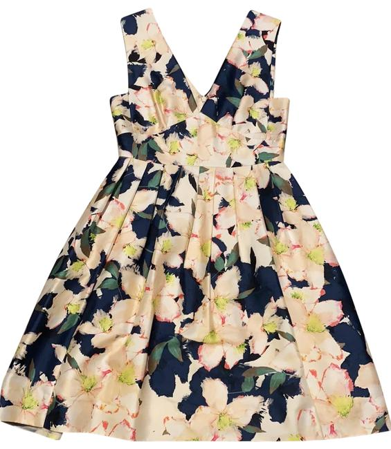 Item - Navy Pink Green Collection A69000 Mid-length Cocktail Dress Size 2 (XS)