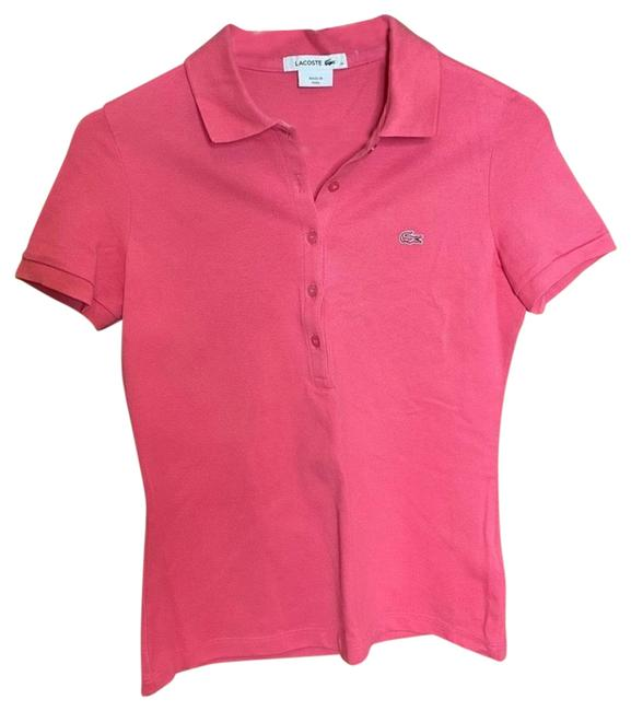 Item - Pink Women's Ribbed Cotton Polo Tee Shirt Size 0 (XS)