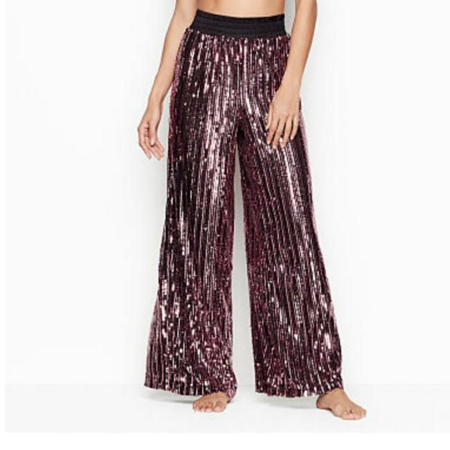 Item - Pink and Black Sequined Pants Size 8 (M, 29, 30)