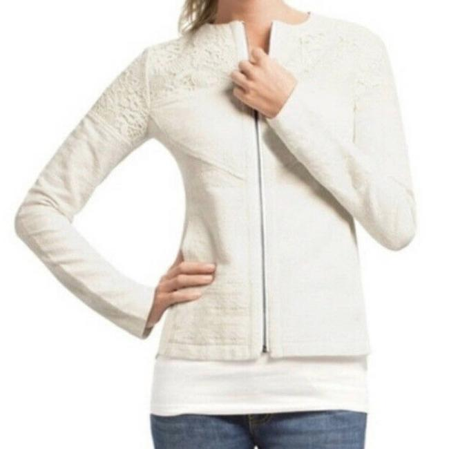 Item - White Lace Occasion Zip Up Jacket Small #715 Blazer Size 4 (S)