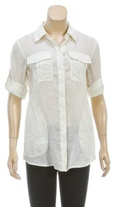 Theory Button Down Shirt Cream