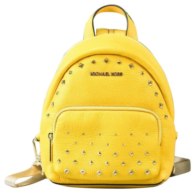 Item - Erin Small Studded Convertible Yellow Leather Backpack