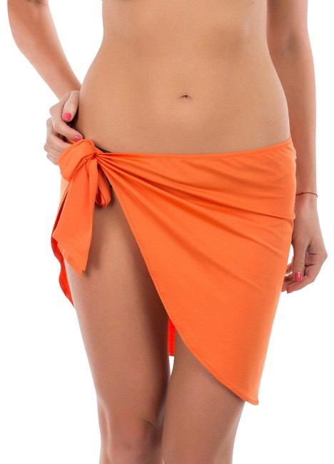 Item - Orange Beach Self-tie Pareo Skirt Cover-up/Sarong Size OS (one size)