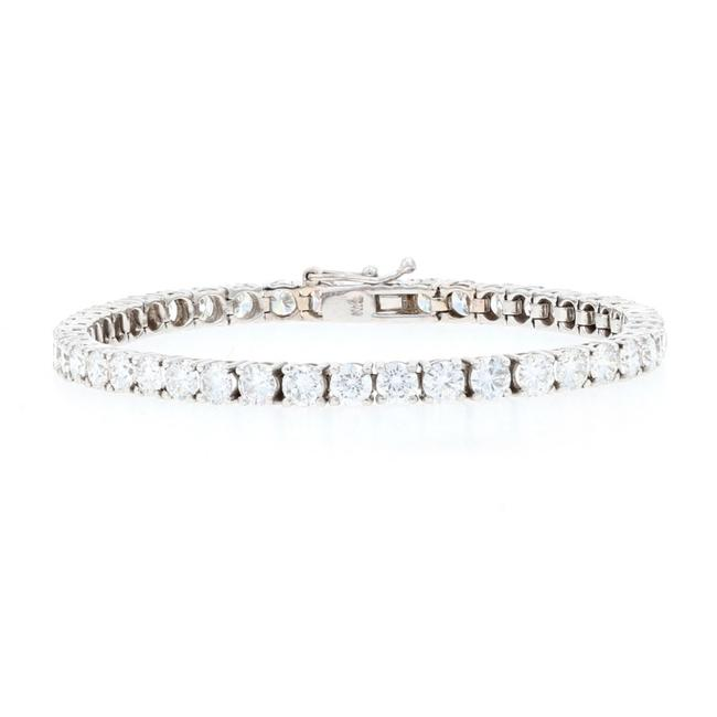 "Wilson Brothers Jewelry White Gold Diamond Tennis 3/4"" - 18k Round Brilliant Bracelet Wilson Brothers Jewelry White Gold Diamond Tennis 3/4"" - 18k Round Brilliant Bracelet Image 1"