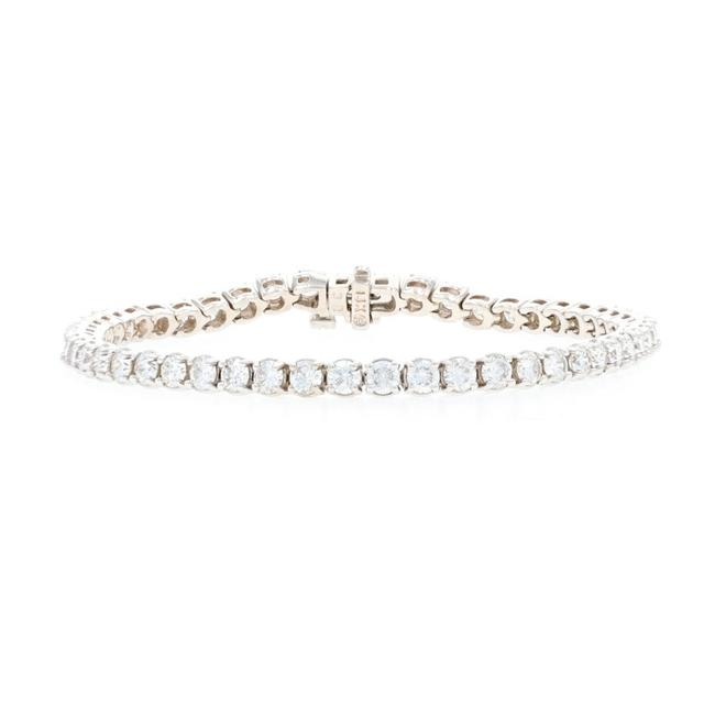 "Wilson Brothers Jewelry White Gold Diamond Tennis 3/4"" - 14k Round Brilliant Bracelet Wilson Brothers Jewelry White Gold Diamond Tennis 3/4"" - 14k Round Brilliant Bracelet Image 1"