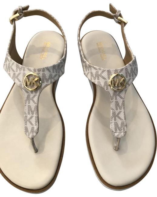 Item - White and Gold Brady Sandals Size US 7 Regular (M, B)