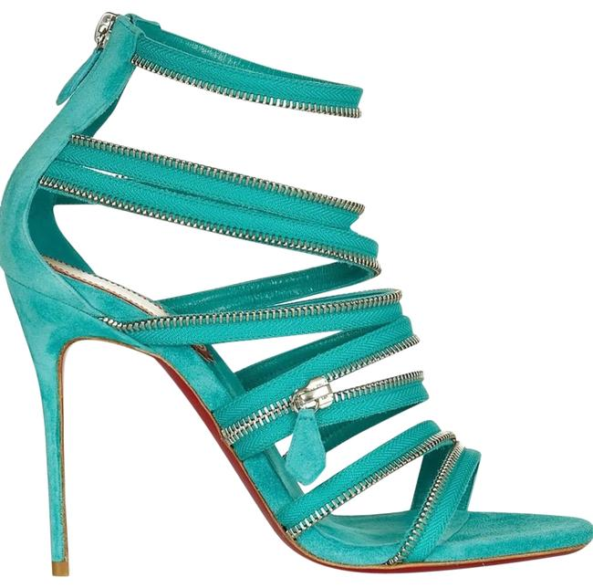 Item - Turquoise 20th Anniversary Unzip 100 Suede Sandals Formal Shoes Size EU 41 (Approx. US 11) Regular (M, B)