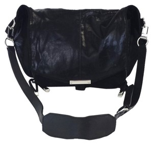 Alexander Wang Textured Messenger Black Messenger Bag