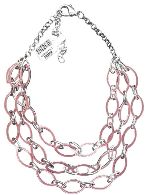 Item - Silver ~coral Pink Necklace