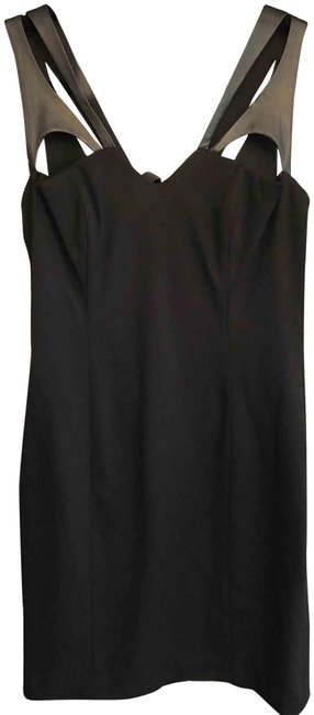 Item - Black Cut Leather Strap Style#83629227 Short Night Out Dress Size 8 (M)