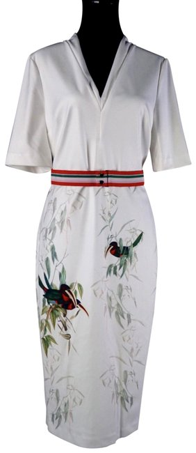 Item - White London Molilo Tutti Frutti Bird New Mid-length Night Out Dress Size 10 (M)
