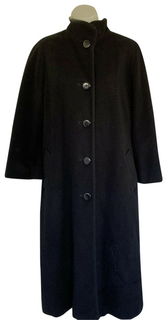 Vintage Black Portrait Long Wool Blend Jacket Coat Size 4 (S) Vintage Black Portrait Long Wool Blend Jacket Coat Size 4 (S) Image 1